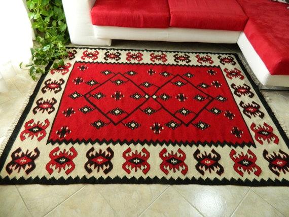 Tappeti Kilim Usati : Tappeto kilim rosso di kilim tappeto tappeto kilim nuovo etsy