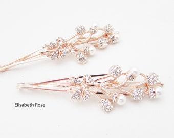 UK Seller 2 Colours NEW Beautiful Crystal /& Dangling Pearl Cross Hair Clip
