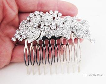 Rhinestone and Crystal Wedding Hair Comb, Sparkly Hair Jewellery for Wedding, Bridal Hair Comb, Silver Crystal Hair Comb,