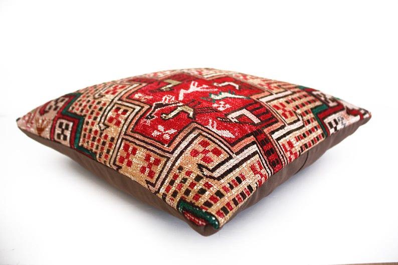 accent pillow turkish kilim ethnic pillow cover kelim pillow Sumac kilim kilim pillows southwestern pillow cushion natural pillow