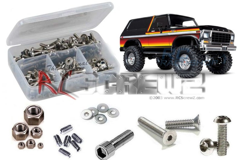 Traxxas TRX-4 Bronco/Ranger (tra085) Stainless Steel Screw Kit