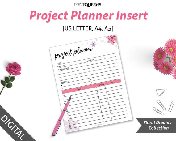 image relating to Printable Project Planner named Printable Undertaking Planner, Productiveness Planner Printable