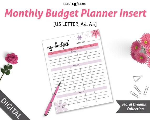 Monthly Budget Planner Printable Finance Organizer