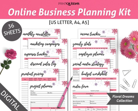 online business planner printable  small business planner