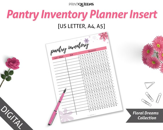 photograph relating to Pantry Inventory Printable known as Pantry Stock Printable, Pantry Stock Package, Pantry