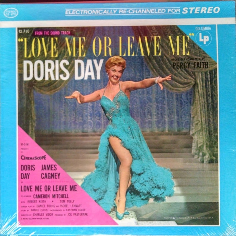 Doris Day LP, Love Me Or Leave Me Movie Soundtrack - Vintage Vinyl Record  of '20s songs: Mean To Me, 10 Cents A Dance etc  Fine condition!
