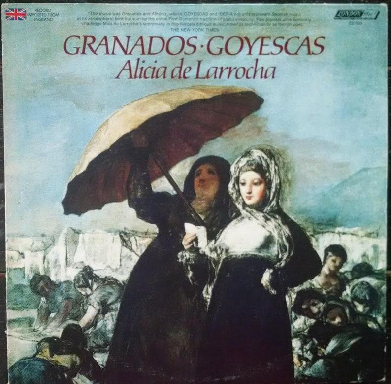 Spanish classical piano LP, Granados Goyescas, Vintage Vinyl London Record  Album w pianist Alicia de Larrocha  Elegant classical music gift