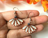 Colorful fan earrings, co...