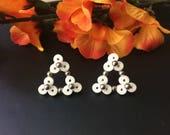 Triangle earrings, paper ...