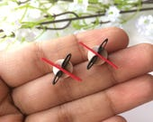 XO dainty stud earrings, ...