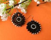 Dark flower earrings, got...