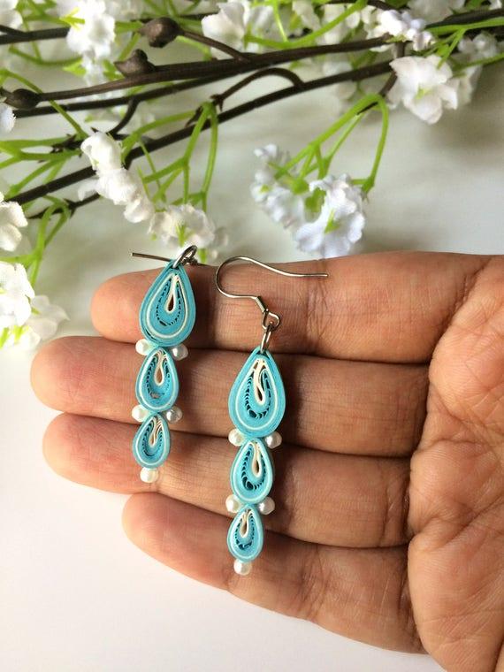 Bohemian Jewelry Black Flower Earrings Dangle Drop Earrings Floral Earrings Dangly Earrings Uk Woodland Earrings Boho Earrings Black