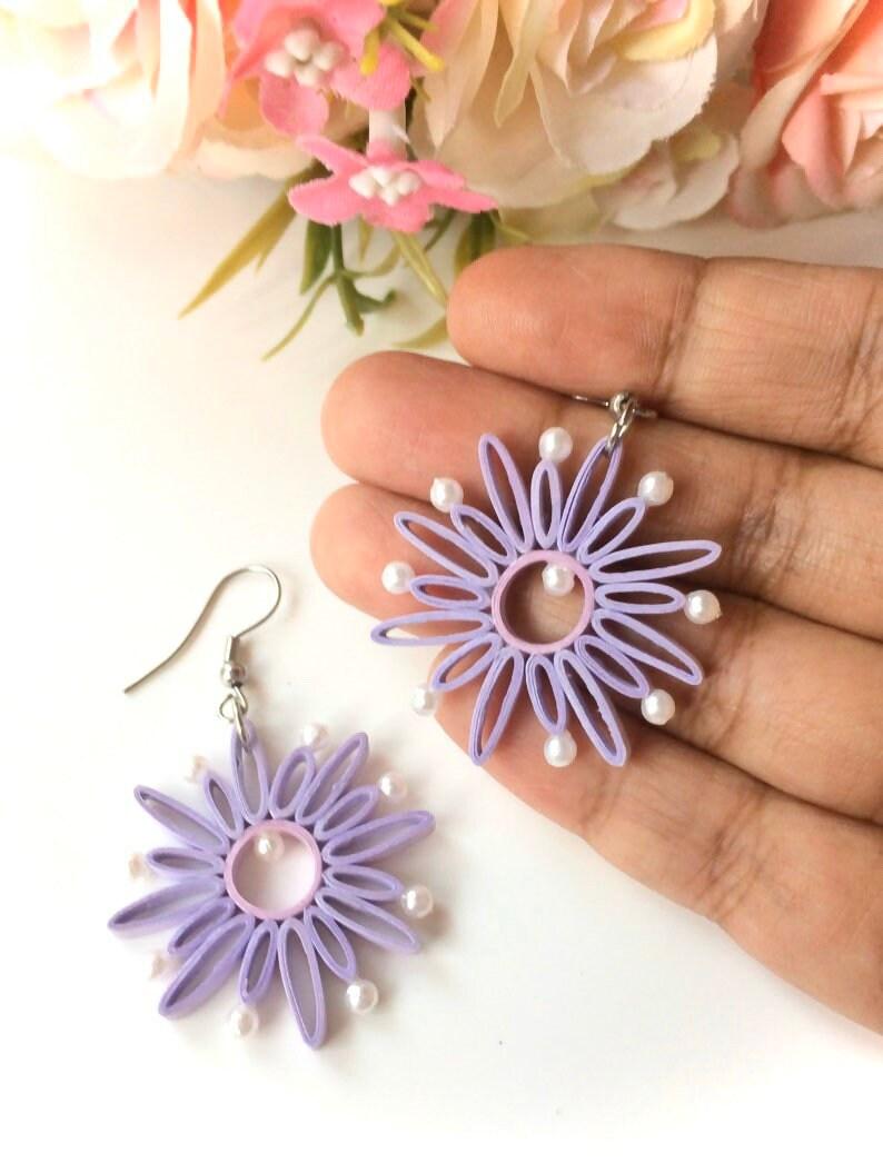 Purple Botanical Earrings Lavender Art Jewelry Sterling Mauve Earrings Lampwork Gift for Her Under 30 Blackberry Dangles Leaf Earrings