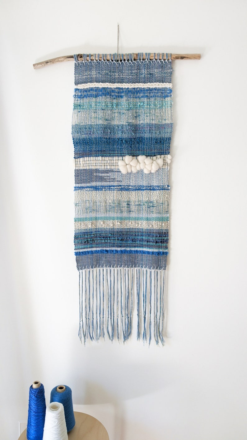 At The Beach  /  Woven wall hanging / Abstract / Textile art / image 0