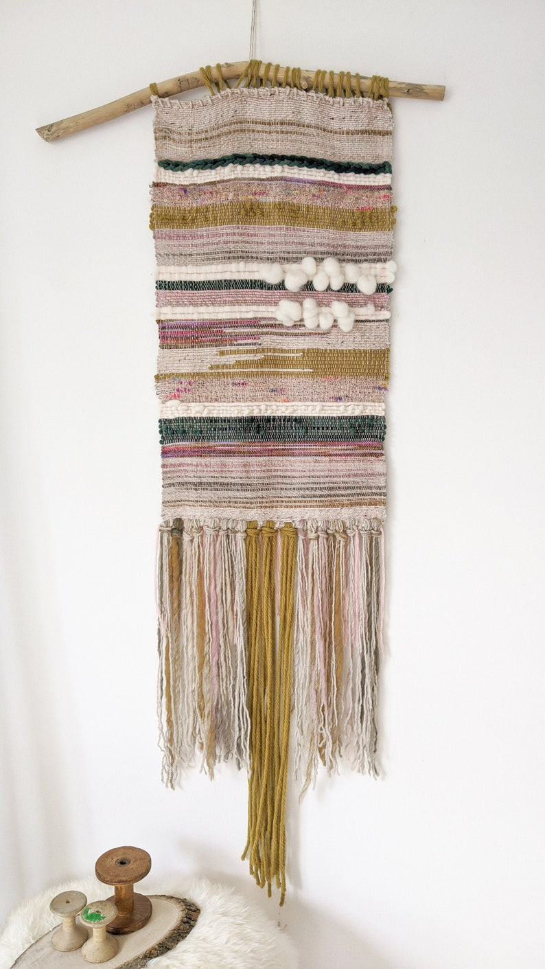 Natalie / Woven wall hanging / Abstract / Textile art / Fibre image 0
