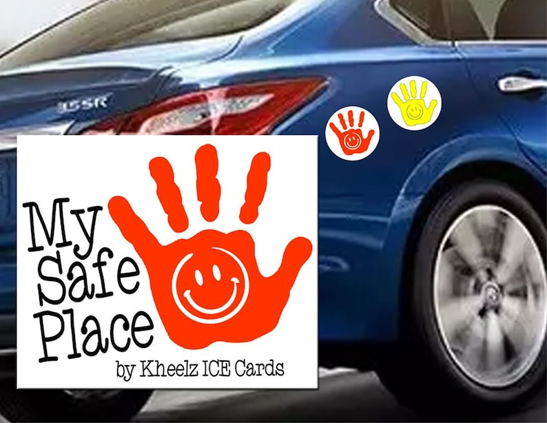 My Safe Place Hand Car Magnet Toddler Child Hand Print Car image 0