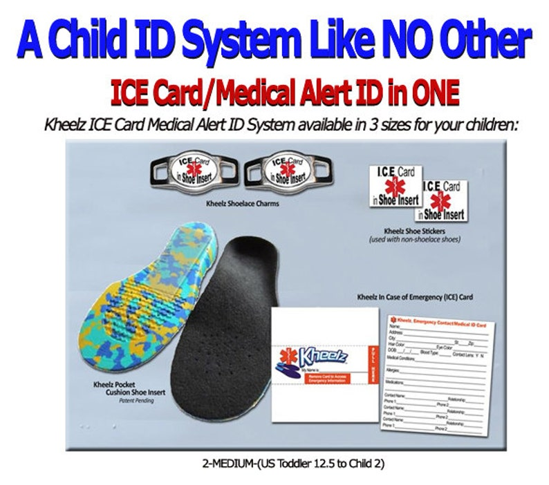 Special Needs Child ICE Card Medical Alert Jewelry In Case of image 0