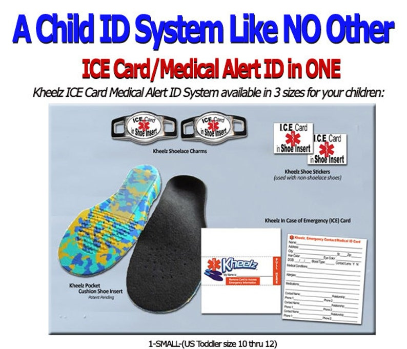 Special Needs Child ICE Card Medical Alert Jewelry Emergency image 0