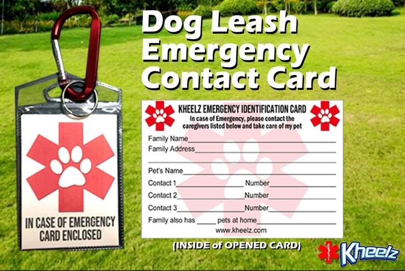 Dog Leash Pet Emergency Contact Card for Dog Lovers image 0