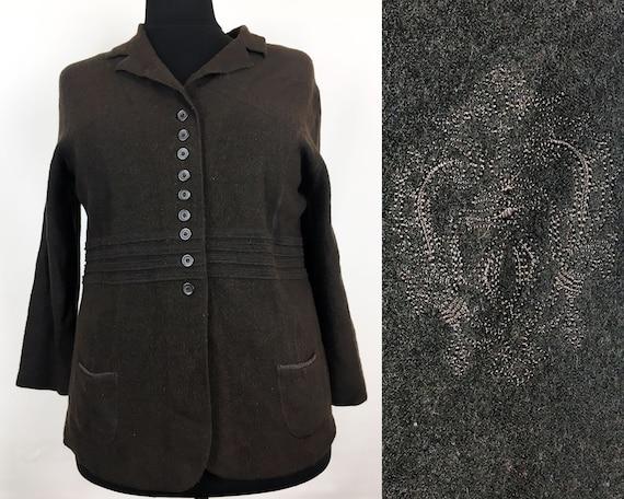 Brown Jacket Stylish Jacket Sise 16 US Elegant Jac