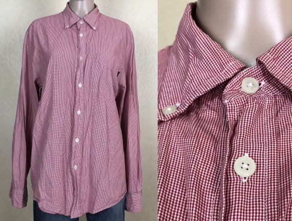 Vintage Mens Striped Shirt, Oversized Shirt, 90s V