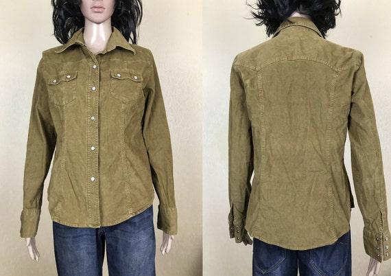 Women's Corduroy Shirt by GAP, vintage 90s, size M