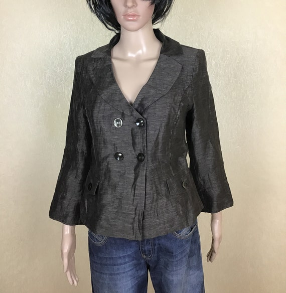 Women's cropped double breasted blazer, 90s, Size