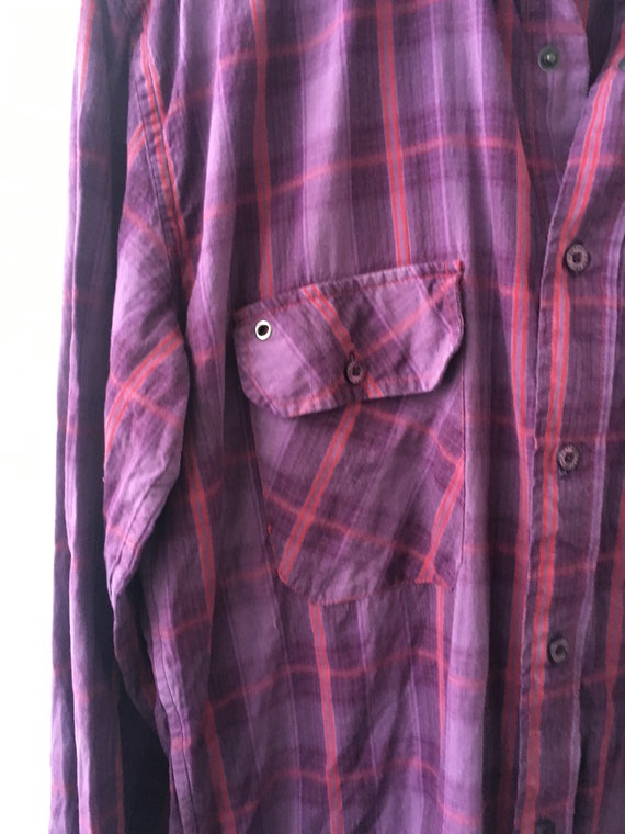 Checkered Shirt Plaid Western Shirt Vintage Men's… - image 5