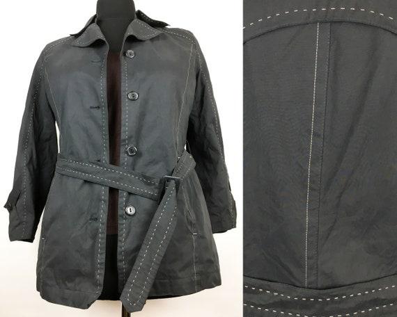 Womens Black Jacket 1990s Vintage Black Jacket Bla