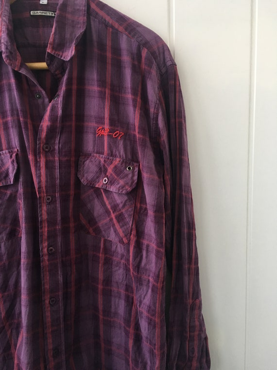 Checkered Shirt Plaid Western Shirt Vintage Men's… - image 4