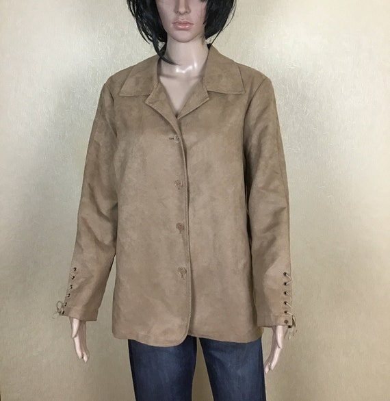Plus Size Women's Long Jacket, 80s Vintage, Size X