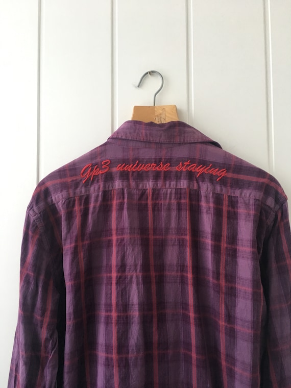 Checkered Shirt Plaid Western Shirt Vintage Men's… - image 8