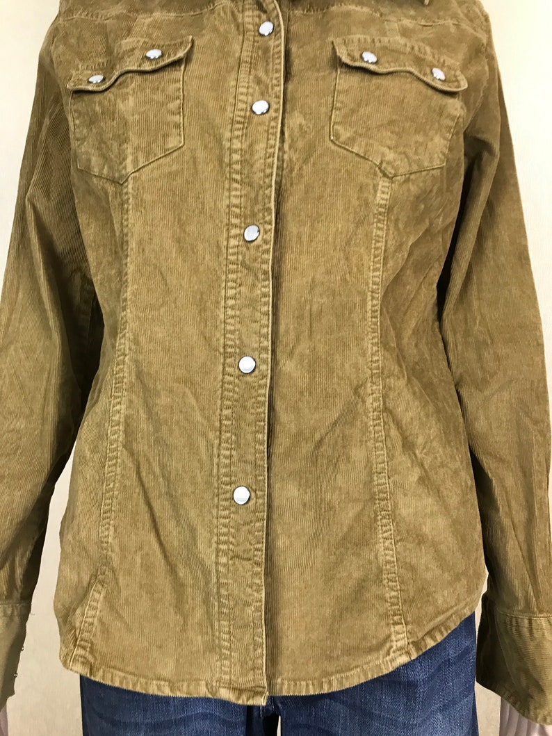 Women/'s Corduroy Shirt by GAP vintage 90s size M