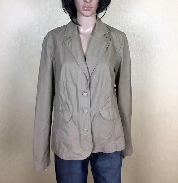 Plus Size Women's Cotton Blazer, 80s Vintage, Size