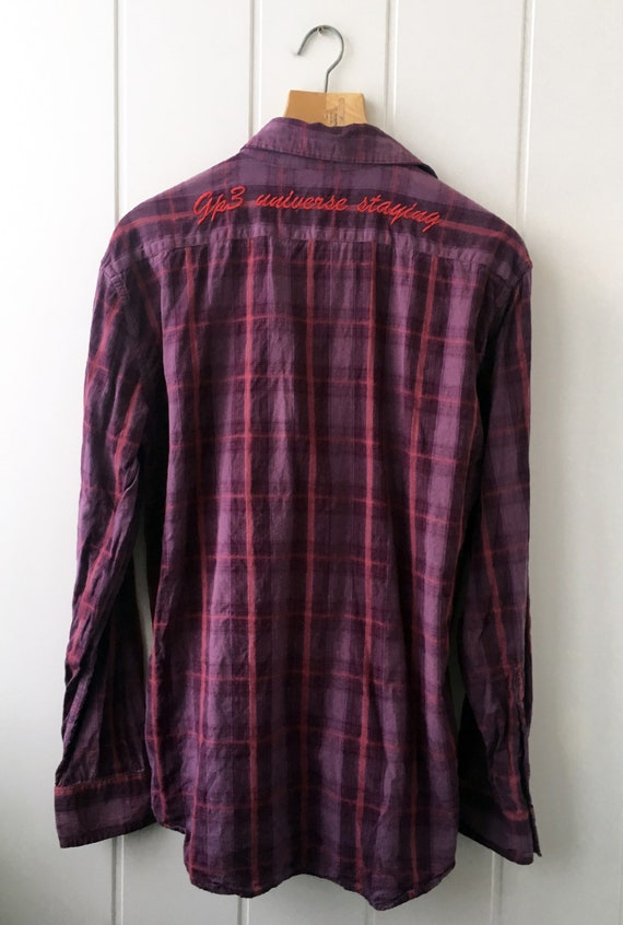 Checkered Shirt Plaid Western Shirt Vintage Men's… - image 3
