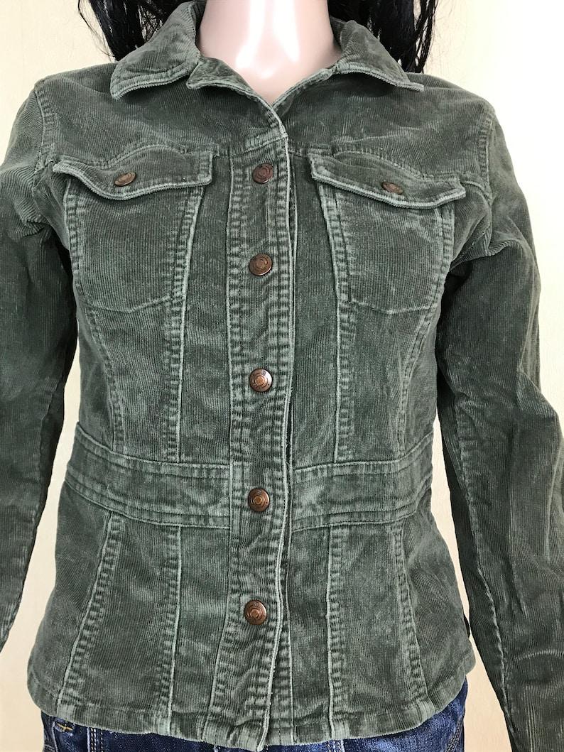 Women/'s Jacket by GSJC Vintage 90s. Gray Velvet Cropped Jacket Size XS Gray Corduroy Jacket