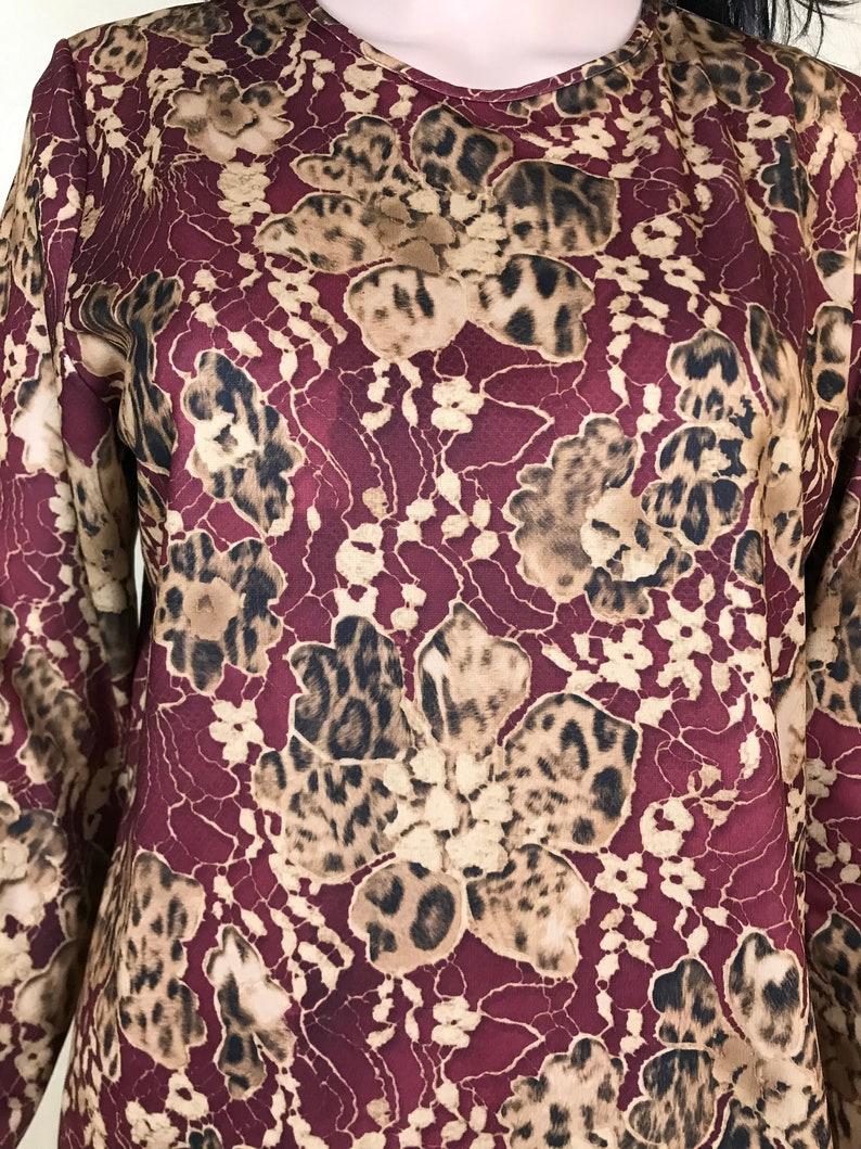 Size M Floral Crew Neck Blouse by FINN KARELIA Vintage 90s