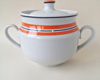 Sugar Bowl, Made In USSR, Porcelain Sugar Bowl, Vintage Sugar Bowl, Soviet Porcelain, Vintage, Porcelain, Russian Porcelain