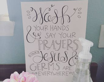 Wash Your Hands Instant Download Print