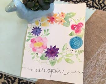 Inspire Floral Wreath Digital File - Instant Download!