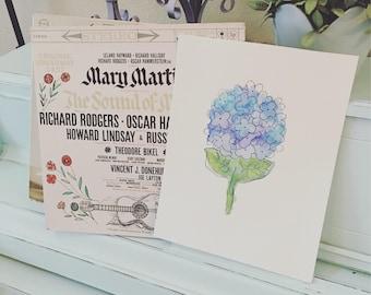 Hydrangea Watercolor Digital Print - Instant Download!