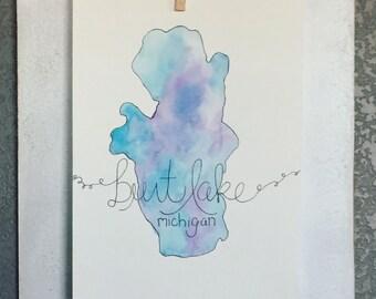 Personalized Lake Print