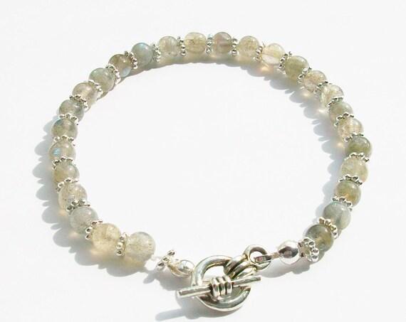 Labradorite Round Stones Bracelet