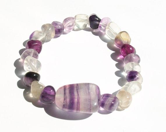 Rainbow Fluorite Stretch Bracelet