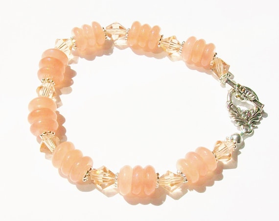 Rose Quartz and Pink Bracelet