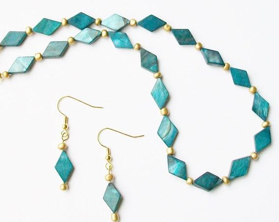 Blue Shell Jewelry Set