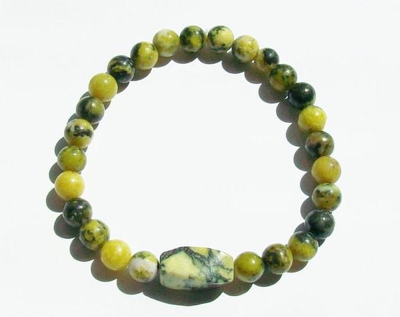 Yellow Turquoise Stretch Bracelet