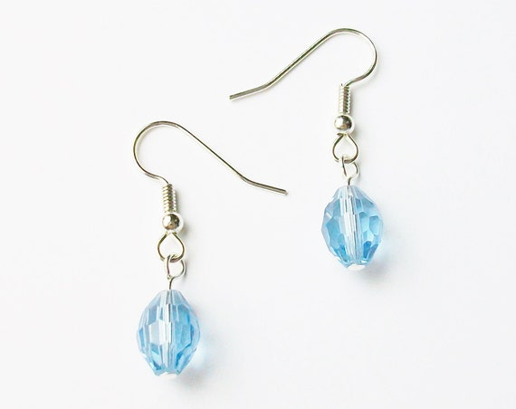 Light Blue Glass Earrings
