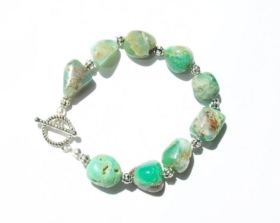 Green Chrysoprase Bracelet