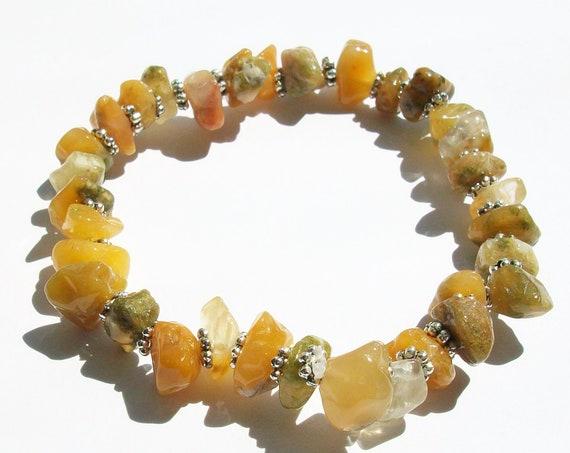 Golden Jade Stretch Bracelet